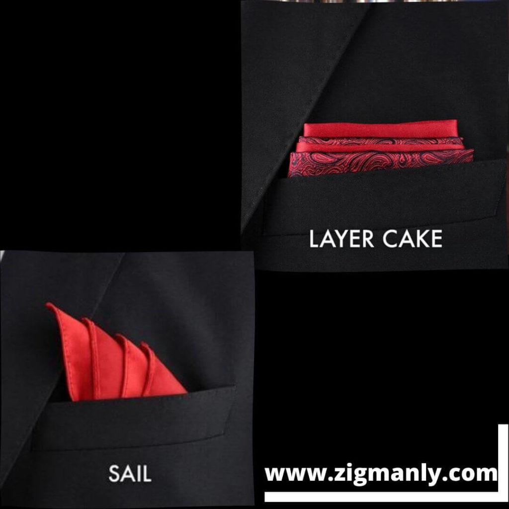 pocket square folding ideasLayer cake ,Sail