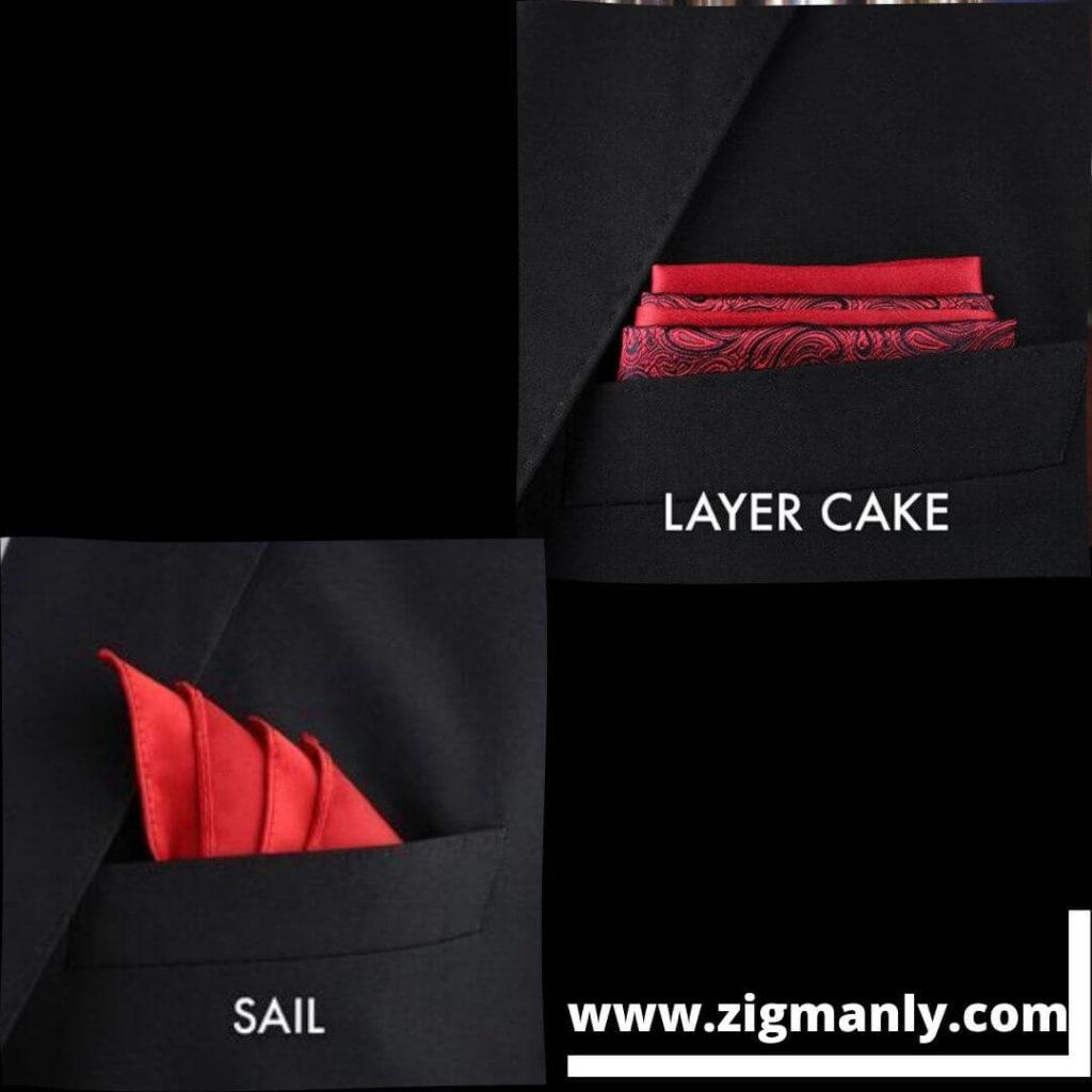 pocket square folding ideasLayer cake ,Sail